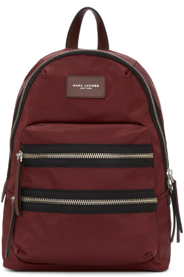 Marc Jacobs - Burgundy Nylon Biker Backpack