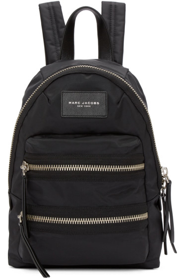 Marc Jacobs - Black Mini Nylon Biker Backpack