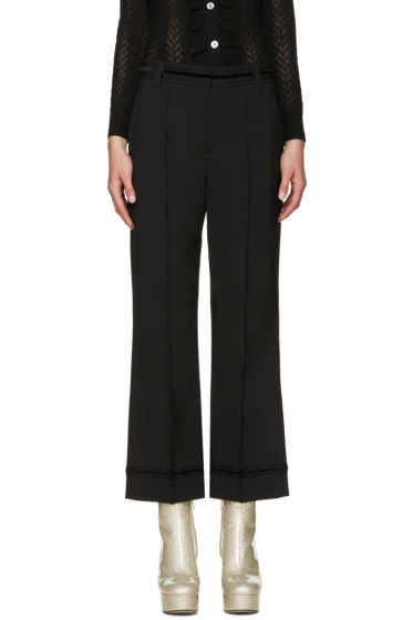 Marc Jacobs - Black Wool Bowie Trousers