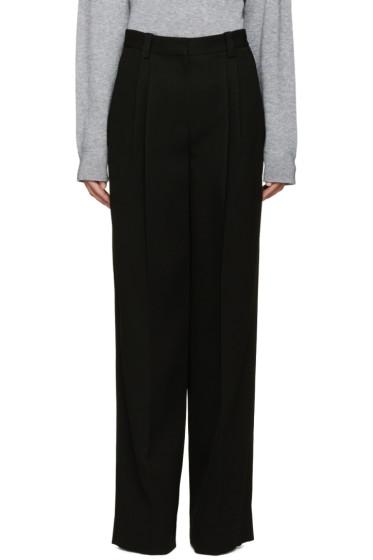 Marc Jacobs - Black Wide-Leg Crepe Trousers