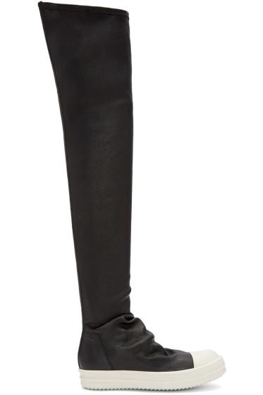 Rick Owens - Black High Sock Boots