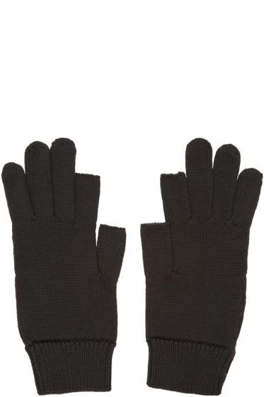 Rick Owens - Black Knit Gloves