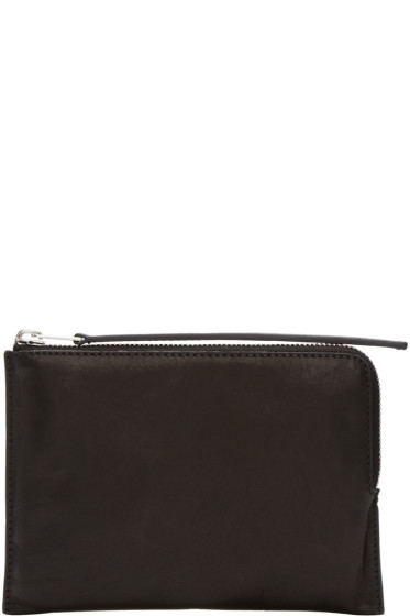 Rick Owens - Black Medium Zipped Pouch