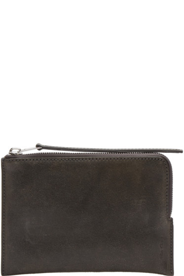 Rick Owens - Black Medium Zippered Pouch