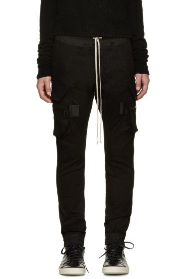 Rick Owens - Black Cargo Lounge Pants