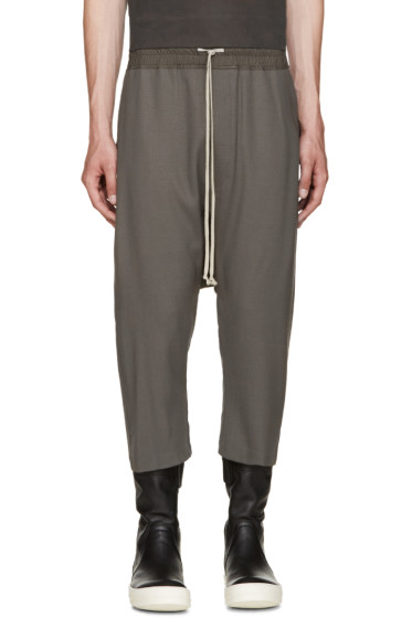 Rick Owens - Grey Cropped Lounge Pants
