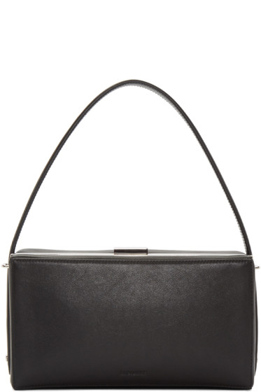 Jil Sander - Black Handle Box Clutch