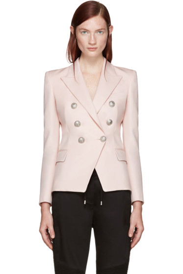 Balmain - Pink Double-Breasted Blazer