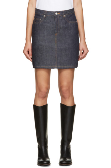 A.P.C. - Indigo Standard Denim Skirt