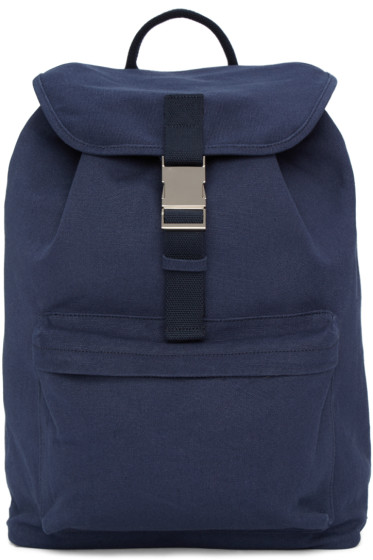 A.P.C. - Navy Clip Backpack