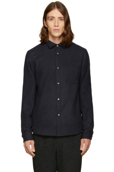 A.P.C. - Navy Flannel Milan Shirt