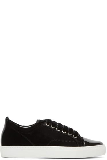 Lanvin - Black Velvet Sneakers