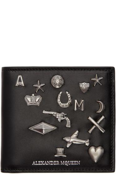 Alexander McQueen - Black Embellished Bifold Wallet