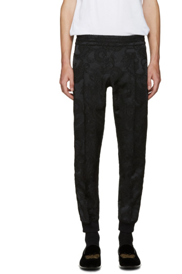 Alexander McQueen - Black Jacquard Trousers