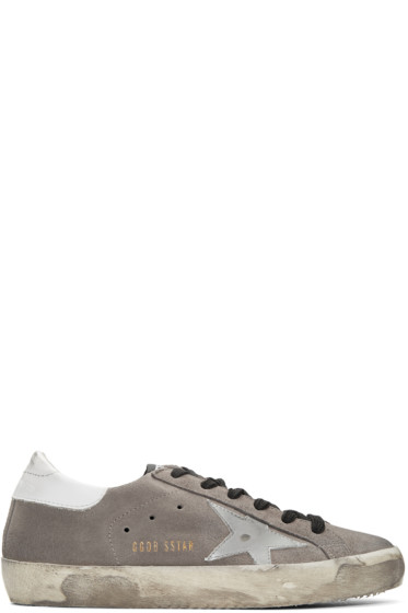 Golden Goose - Taupe Suede Superstar Sneakers