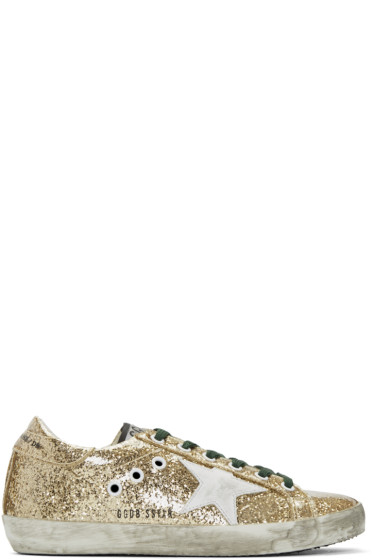 Golden Goose - Gold Glitter Superstars Sneakers