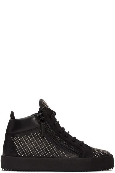 Giuseppe Zanotti - Black Studded London High-Top Sneakers