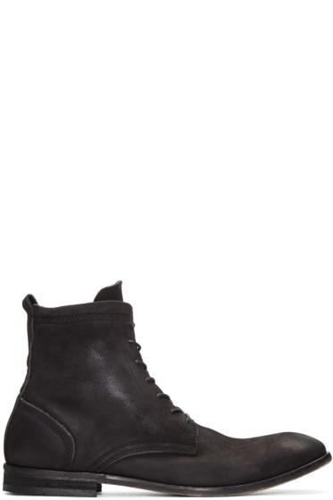 H by Hudson - Black Nubuck Swathmore Boots