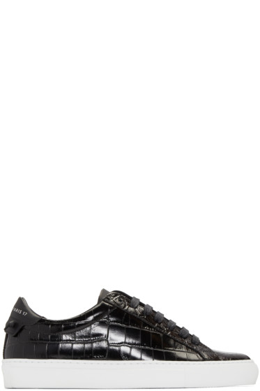Givenchy - Black Croc-Embossed Urban Knots Sneakers
