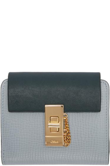 Chloé - Blue Square Drew Wallet