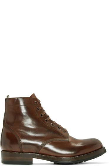Officine Creative - Brown Lowry Boots