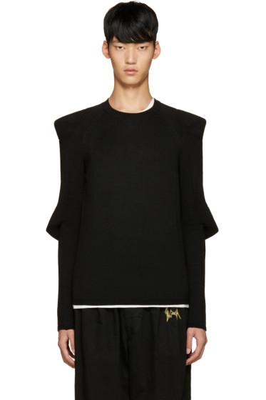 Comme des Garçons Homme Plus - Black Padded Sleeve Sweater