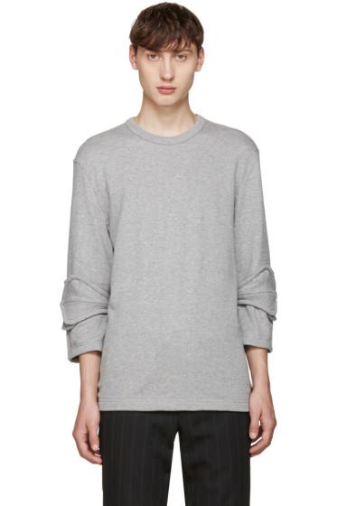 Comme des Garçons Homme Plus - Grey Accent Sleeve Pullover