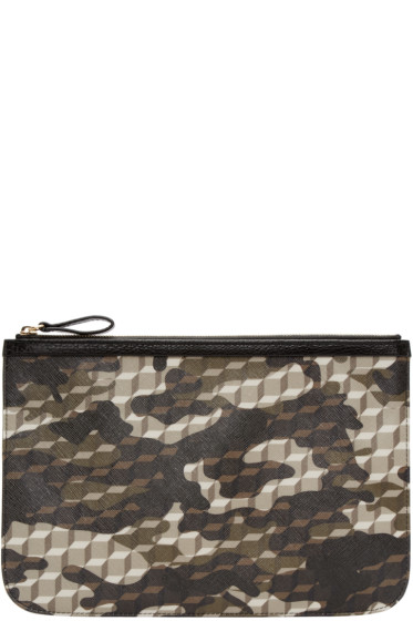 Pierre Hardy - Multicolor Perspective Cube Zip Pouch