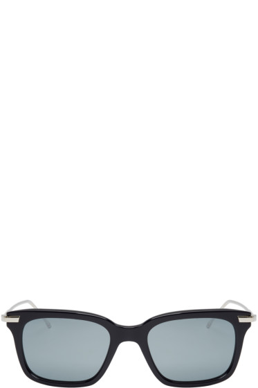 Thom Browne - Navy & Silver TB-701 Sunglasses
