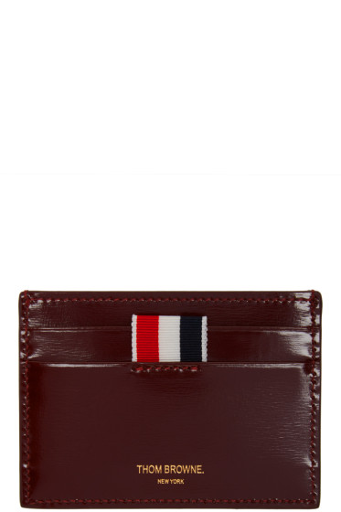 Thom Browne - Burgundy Leather Card Holder