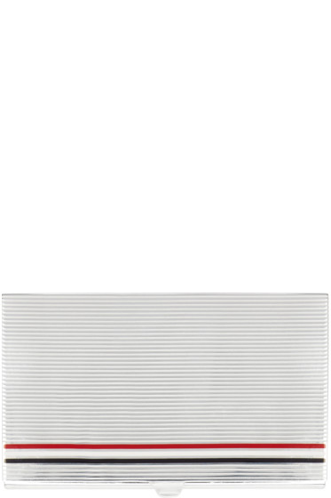 Thom Browne - Silver Striped Card Case