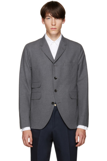 Thom Browne - Grey Cotton 5-Button Blazer