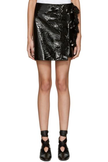 Kenzo - Black Patent Miniskirt
