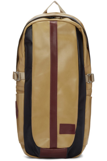 Master-Piece Co - Beige Leather Over Backpack