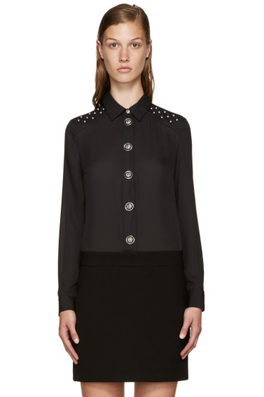 Versus - Black Studded Shirt Dress