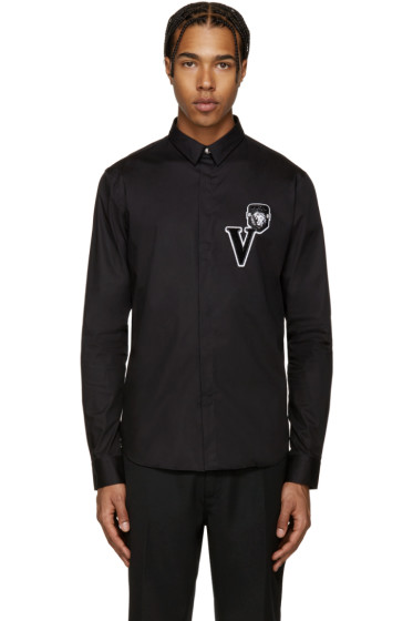 Versus - Black Embroidered Shirt