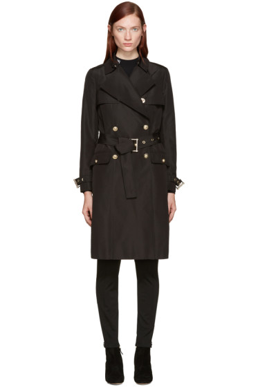 Versace - Black Classic Trench Coat