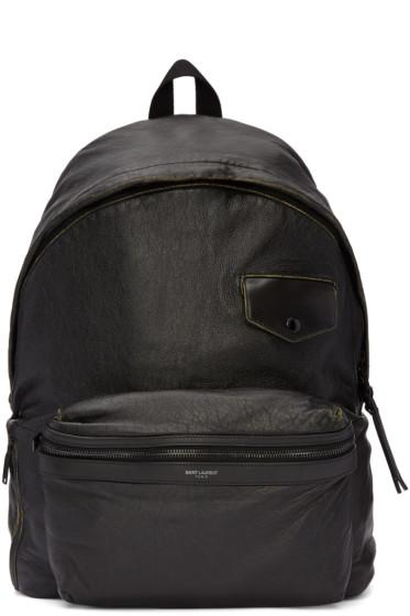 Saint Laurent - Black Vintage City Backpack