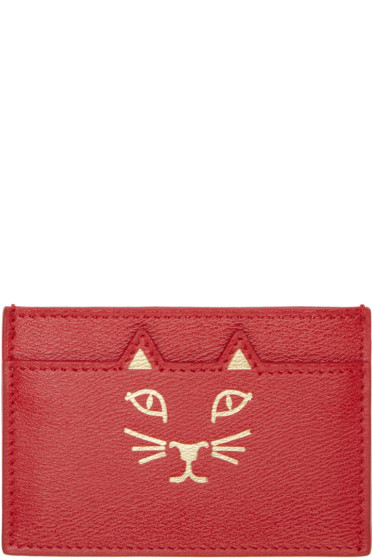 Charlotte Olympia - Red Feline Card Holder