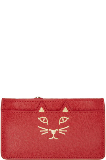 Charlotte Olympia - Red Feline Coin Purse