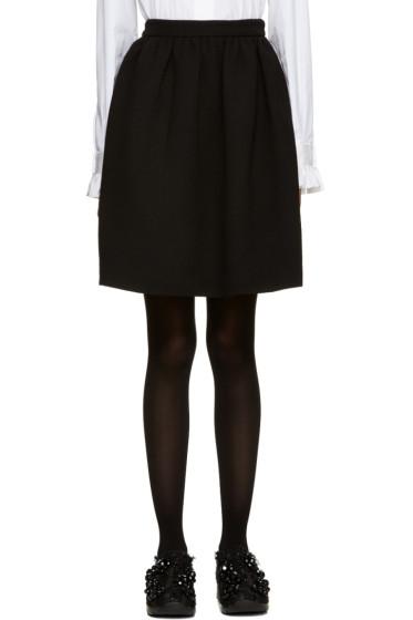 MSGM - Black Circle Miniskirt
