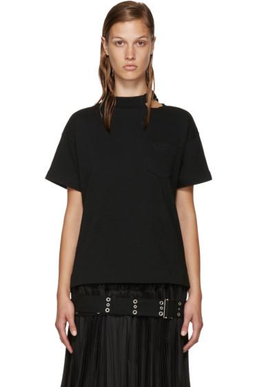 Sacai - Black Belted Collar T-Shirt