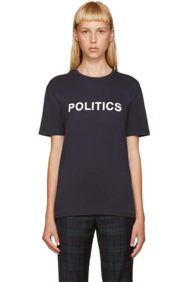 6397 - Navy Politics T-Shirt