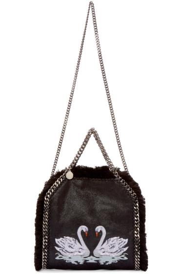 Stella McCartney - Black Mini Swan Falabella Tote