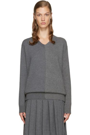 Stella McCartney - Grey V-Neck Sweater