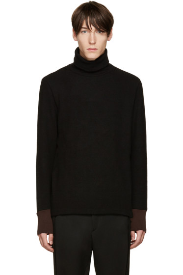 Umit Benan - Black Wool Turtleneck