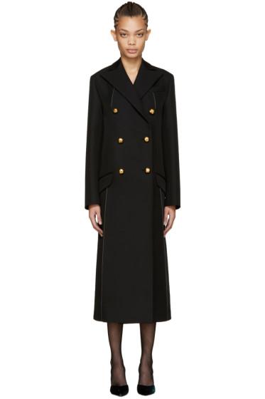 Nina Ricci - Black Double-Breasted Coat