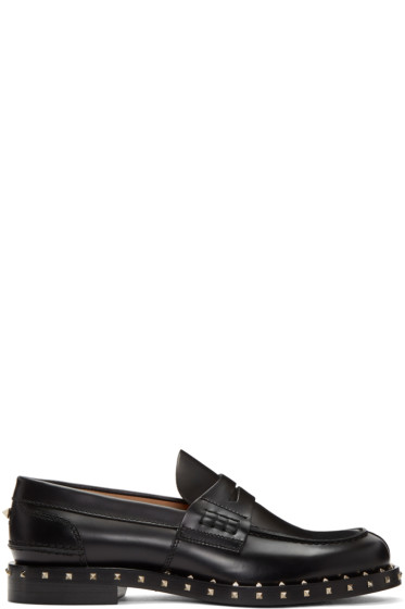 Valentino - Black Soul Stud Loafers