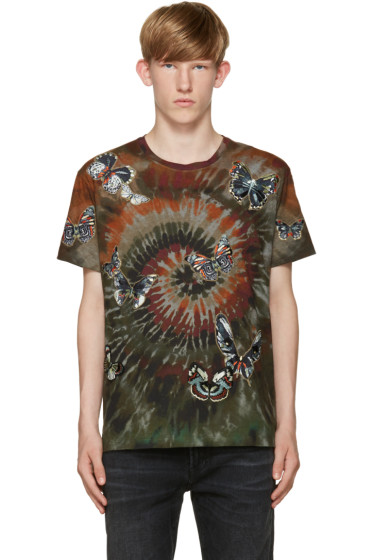 Valentino - Green Tie Dye Butterfly T-Shirt