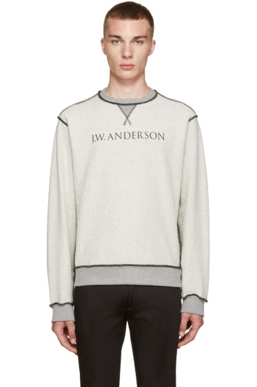 J.W.Anderson - Grey Inside-Out Pullover